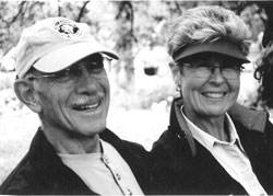 Mr. Walter B. Cunningham and Mrs. Don Nell Cunningham smiling
